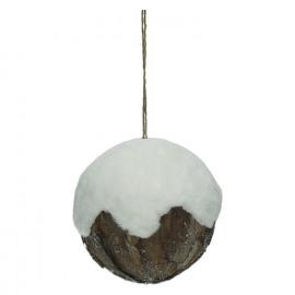 EXQUIS'MO - bal - bont/hout - wit - M - Ø15 cm