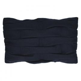 AKEMI - coussin deco - laine recyclé - bleu marine - 30x50 cm