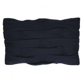 AKEMI - deco kussen - gerecycleerde wol - marineblauw - 30x50 cm