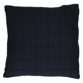 AKIHO - deco cushion - recycled wool - navy blue - 45x45 cm