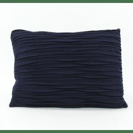 AKI - deco cushion - recycled wool - navy blue - 50x70 cm