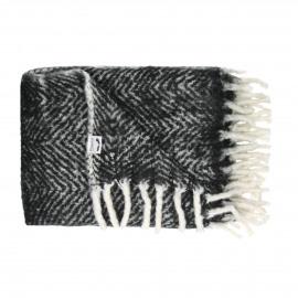 COSY - mohair plaid - 100% acrylic - zwart - 130x170 cm