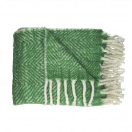 COSY - mohair plaid - 100% acrylic - groen - 130x170 cm