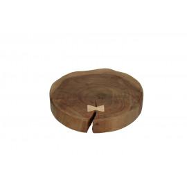 HIRAM - assiette - acacia - L 33 x W 34 x H 6 cm