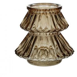 CARLITO - windlicht - glas - goud - S - Ø11xh10 cm