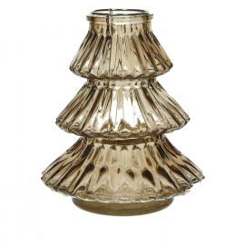 CARLITO - windlicht - glas - goud - M - Ø16xh18 cm