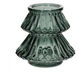 CARLITO - windlicht - glas - groen - S - Ø11xh10 cm