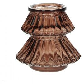 CARLITO - windlicht - glas - oranje - S - Ø11xh10 cm