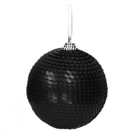 DISCO - x-mass ball - synthetics - DIA 8 cm - black