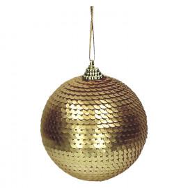 DISCO - kerstbal - paillettes - goud - Ø8 cm