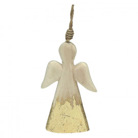 CRAFT - suspension de noël - bois - L 5 x W 1 x H 10 cm - naturel