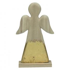CRAFT - kersthanger - hout - L 13,5 x W 4,5 x H 23 cm - naturel