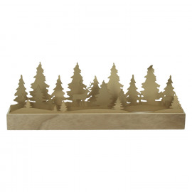 CRAFT - led deco - paper/wood - brown - 44x7,5xh15,6 cm