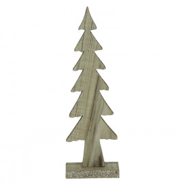 CRAFT - kerstboom - hout - naturel - S - 8x4xh25,5 cm