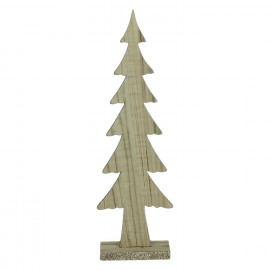 CRAFT - kerstboom - hout - naturel - M - 11x5xh35,5 cm