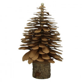 PAPER TREE - pinecone tree - paper/wood - brown - M - Ø14xh24 cm