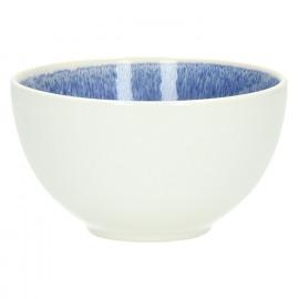 VALAURIA - Bol - grès - Bleu marine - Email réactif - exterieur blanc mat - DIA DIA 14 x H 8 cm