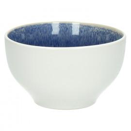 VALAURIA - Salad bowl - Stoneware - Navy blue - reactive glaze - matt outside - DIA 20 cm