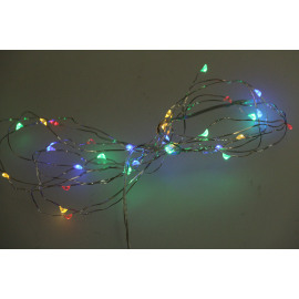 GLITTER - light chain 4 colours - plastic - L 300 cm - multicolor