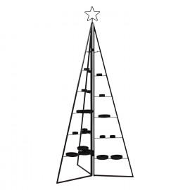 FORMIDABLE - vouwbare boom met kaarsenhouders - metaal - zwart - S - Ø60xh126 cm