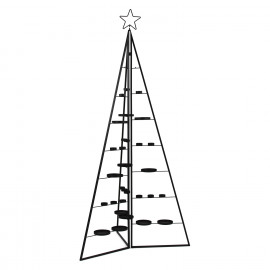 FORMIDABLE - foldable tree with candle-holders - metal - black - M - Ø80xh158 cm