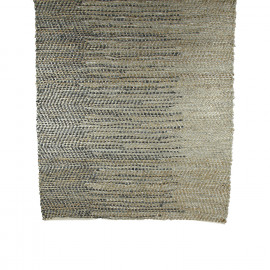 RYTHMIC - rug - jute/leather/cotton - grey/natural - 120x180 cm