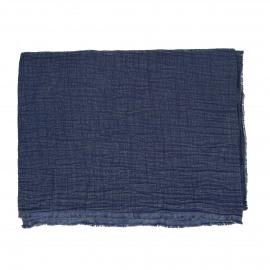 A TAVOLA - tafelkleed - 100% katoen stonewashed - blauw - 170x170 cm