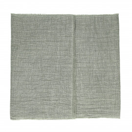 A TAVOLA - tafel loper - 100% katoen stonewashed - groen - 40x140 cm