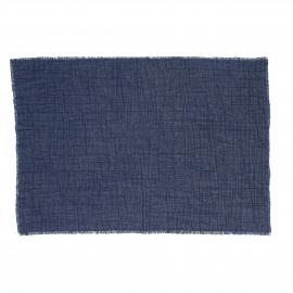 A TAVOLA - placemat - 100% cotton stonewashed - blue - 35x50 cm