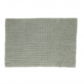 A TAVOLA - placemat - 100% katoen stonewashed - groen - 35x50 cm