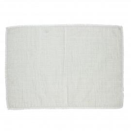 A TAVOLA - placemat - 100% katoen stonewashed - wit - 35x50 cm