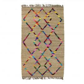MYSORE - Tapijt  - 80% Jutten/20% Katoen - geometrisch patroon- 140x200 cm