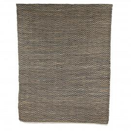 JODPHUR - Rug - 90% Jutten/10% Cotton - visgraat nat & zwart - 140x200 cm
