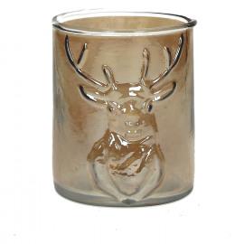 HARRY - Windlicht - glas - nacre goud - S - Dia 10x13 cm