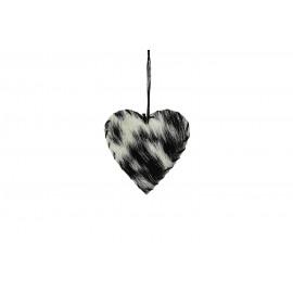 CALA - Hartvormige hanger - geitenvel - 10x11x1 cm