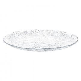 ROMANCE - bord- glas - transparant - dia 27,5cm