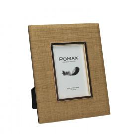 LISBOA - Cadre photo - Rotin tissé/métal - photo 10x15 cm