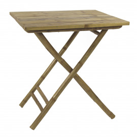 CÂY TRE - square table - bamboo - natural - 70x70xh75 cm