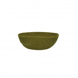 NATURE - bread basket - jute/cotton - light green - M - Ø21xH8 cm