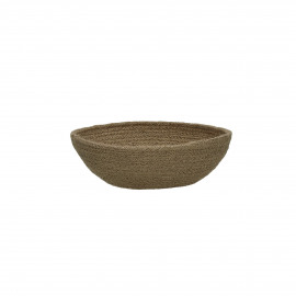 NATURE - bread basket - jute/cotton - natural - M - Ø21xH8 cm