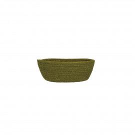 NATURE - broodmand - jute/katoen - lichtgroen - S - 19x11xh7 cm