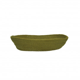NATURE - bread basket - jute/cotton - light green - M - 32x18xh7 cm
