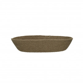 NATURE - bread basket - jute - L 32 x W 18 x H 7 cm - natural