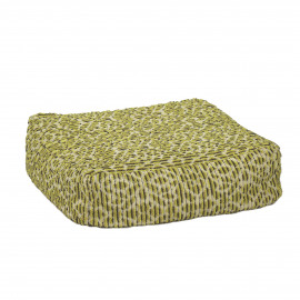 DAISY - floor cushion - 100% cotton - lime - L - 60x60xh20 cm