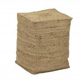 ROBINSON - pouf - 100% jute - M - 35x35xh46 cm