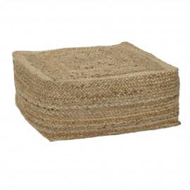 ROBINSON - pouf - 100% jute - L - 60x60xh25 cm