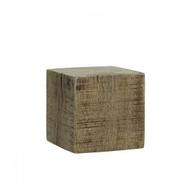 BLOXX - block - solid mango wood - natural - S - 12x12xh12 cm