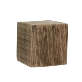 BLOXX - block - solid mango wood - natural - M - 15x15xh15 cm