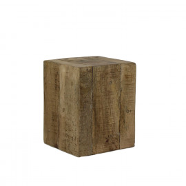 BLOXX - block - solid mango wood - natural - XXL - 33x33xh43 cm