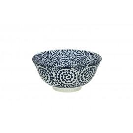 SAIGON LEAVES - bol - porcelaine - DIA 15 x H 7 cm - bleu